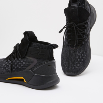 ANTA Men's Textured Sneakers with Lace Up Closure