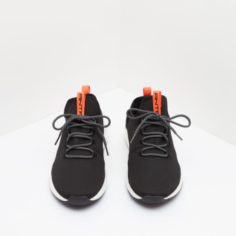 ANTA Textured Sports Sneakers with Lace-Up Closure