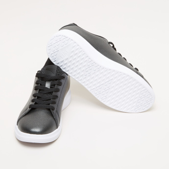 ANTA Lace-Up Sneakers with Stitch Detail