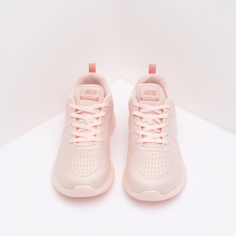 ANTA Walking Shoes with Lace-up Closure