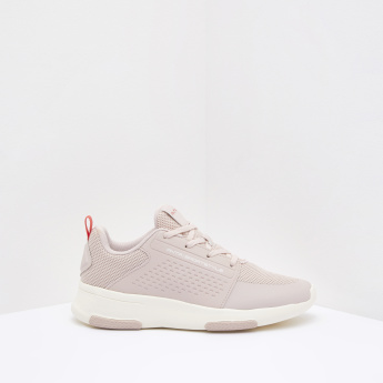 ANTA Textured Walking Shoes with Lace-up Detail