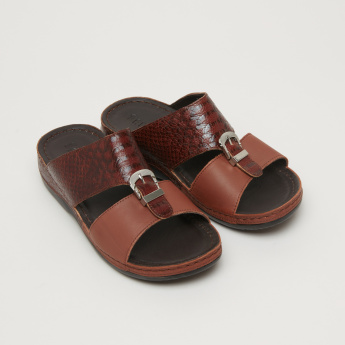 Barefeet Textured Arabic Sandals with Pin Buckle Detail