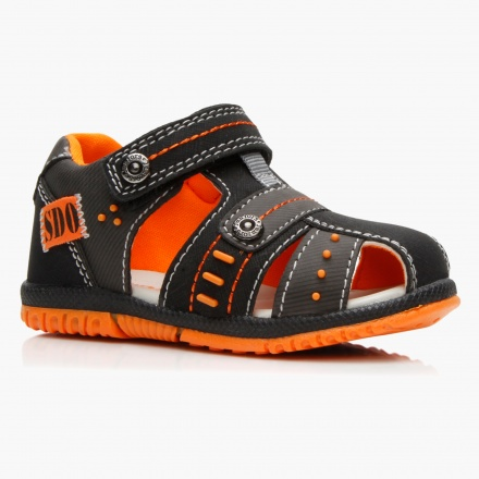 Juniors Dual-tone Velcro Sandals