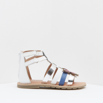 High-Top Embellished Gladiator Sandals