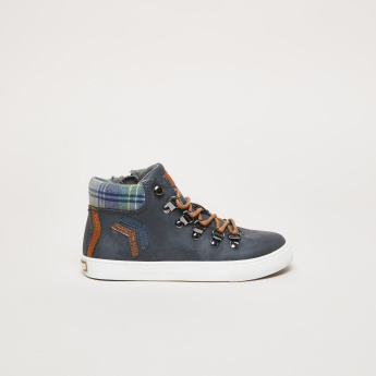 Pablosky Textured High Top Shoes with Zip Closure