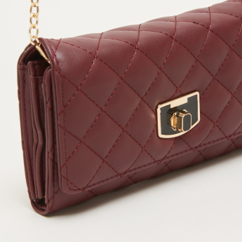 Celeste Quilted Flap Wallet with Twist Lock