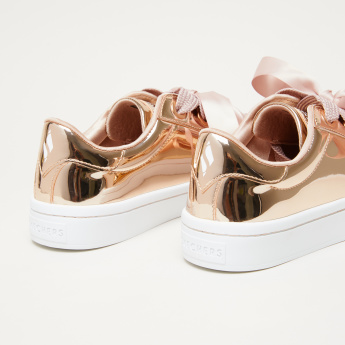 96ac3858e1a Skechers Metallic Sneakers with Ribbon Detail