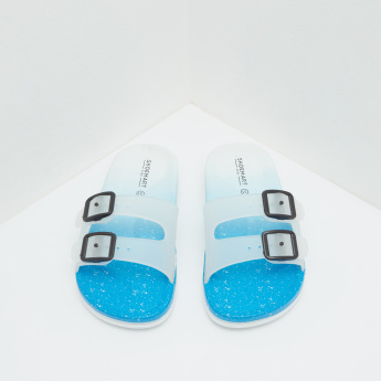 Dual-Strap Beach Slip On Slides