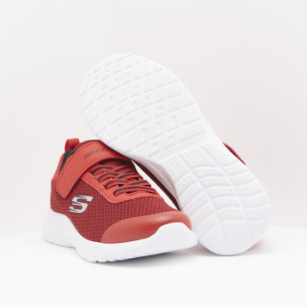 Skechers Mesh Panelled Sneakers with Hook and Loop Closure
