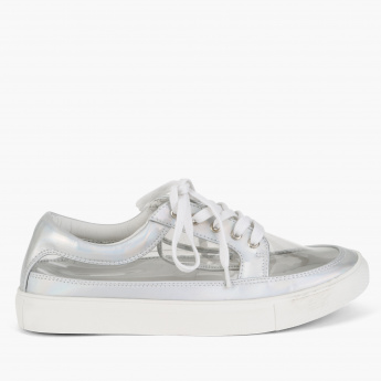 Missy Metallic Lace-Up Sneakers