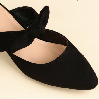 Missy Kitten Heel Slides with Bow Detail