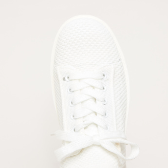 Lee Cooper Mesh Sneakers with Lace Closure