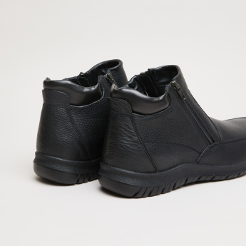IMAC Textured Boots with Zip Closure