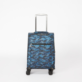 Duchini Printed 360 Spinner Trolley Bag with Cushion Handle