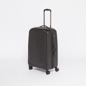 SWISSBRAND Embossed Hard Case Trolley Bag with Zip Closure
