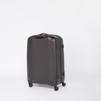 SWISSBRAND Embossed Hard Case Trolley Bag with Retractable Handle