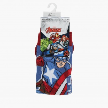 Captain America Print Quarter Socks
