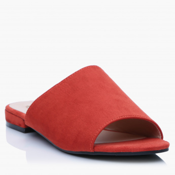 Paprika Slides with Low Heel