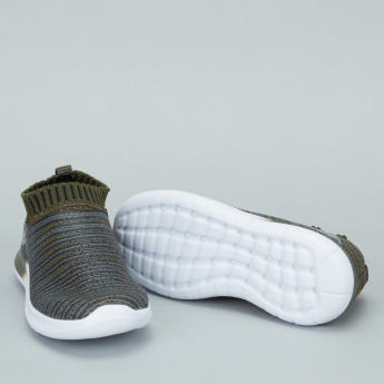 Kappa Textured Slip-On Running Shoes