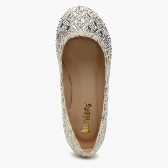 Juniors Embellished Ballerinas