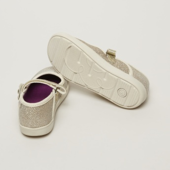 Stride Rite Mary Jane Shoes with Flower Applique