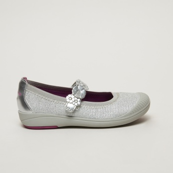 Stride Rite Mary Jane Shoes with Flower Appliques