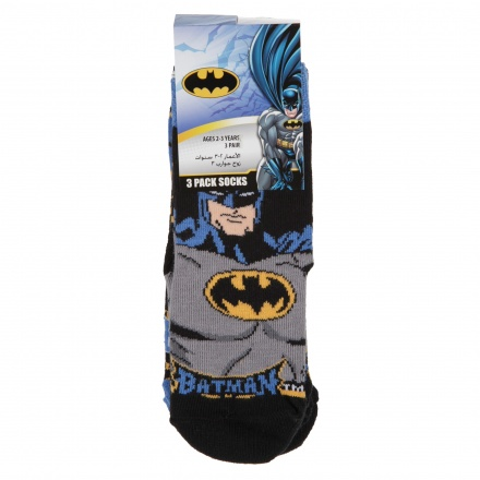 Batman Printed Socks - Set of 3