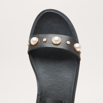 STEVE MADDEN Embellished Floaters with Hook and Loop Closure