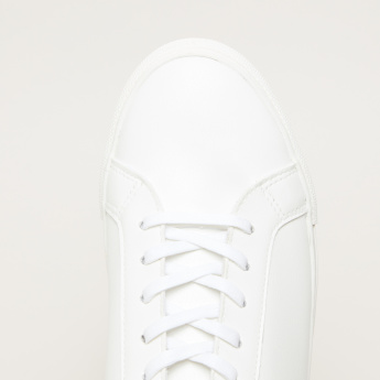 Stitch Detail Lace-Up Sneakers
