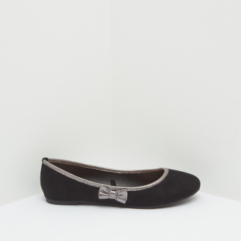 Ballerinas with Bow Detail and Slip On Closure