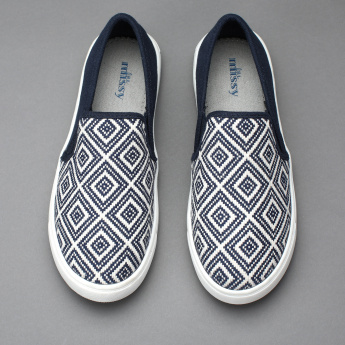 Little Missy Embroidered Slip-On Shoes