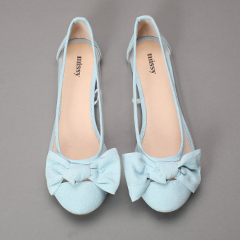 Missy Slip-On Shoes with Bow Applique