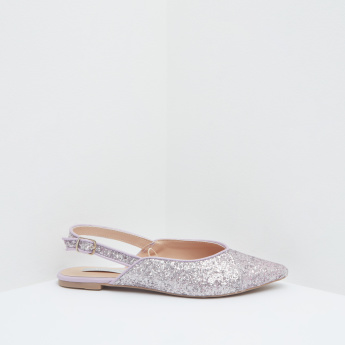 Glitter Embellished Pointed-Toe Shoes