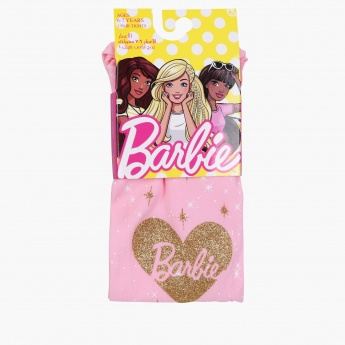 Barbie Printed Tights with Elasticised Waistband