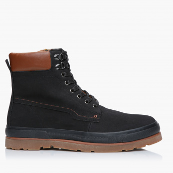 Lee Cooper Military Boots with Lace Detail