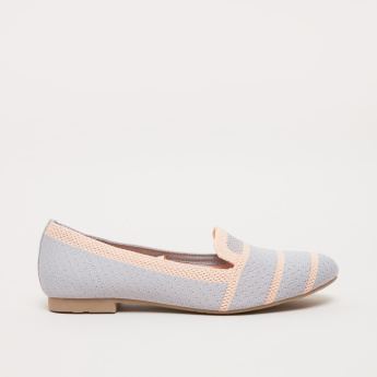 Knitted Ballerina Shoes with Stripes