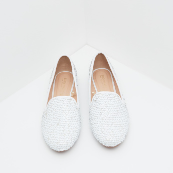 Embellished Ballerina with Slip-On Closure