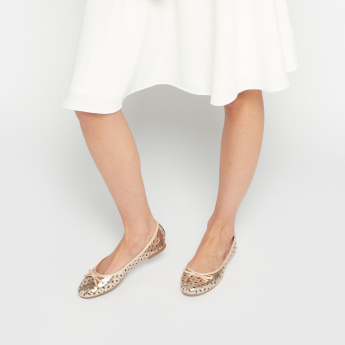 Ballet Flats with Laser Cutouts