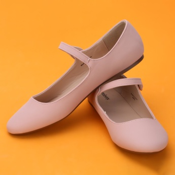 Missy Mary Jane Shoes with Press Button Closure