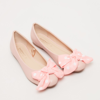 Bow Detail Slip-On Ballerina Shoes