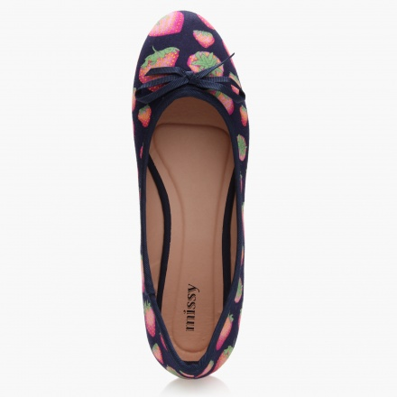 Missy Printed Ballerinas with Bow Accent
