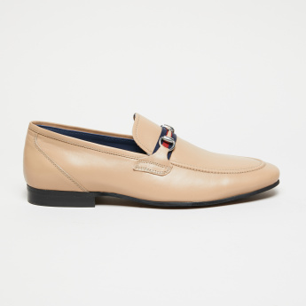 Duchini Buckle Detail Slip-On Loafers