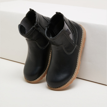 Lee Cooper High Top Chelsea Boots with Zip Closure