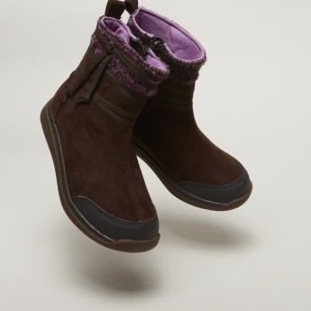 Stride Rite Stitch Detail High Top Boots with Zip Closure