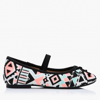 Mary Jane Printed Ballerina Shoes
