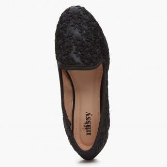 Little Missy Mesh Embroidered Ballerinas