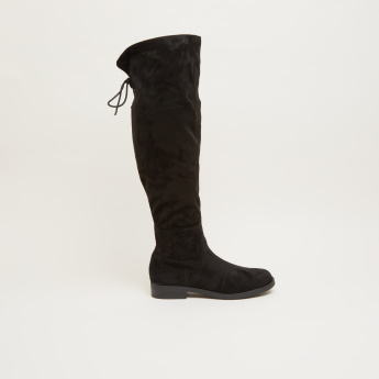 Over the Knee Boots with Zip Closure