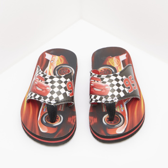 Cars Printed Slip-On Flip Flops