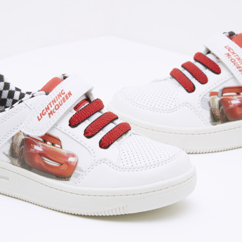Cars Printed Sneakers with Hook and Loop Closure