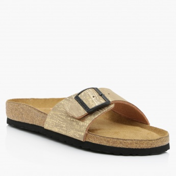 Le Confort Slip-On Sandals with Buckle Detail